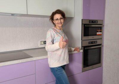 Кухня на заказ крашеный МДф в Одессе